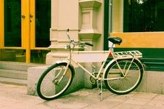 Classic vintage retro city bicycle Royalty Free Stock Photo