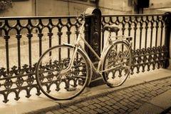 Classic vintage retro city bicycle Stock Photos