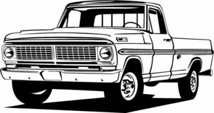 Free Classic Vintage Retro Legendary American Car Ford F100 Royalty Free Stock Photos - 188310648