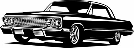 Free Classic Vintage Retro Legendary American Muscle Car Chevrolet Impala Royalty Free Stock Images - 207273449