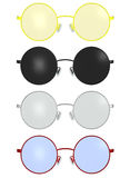 Classic Vintage Round Spectacles Glass Frame Illustration Royalty Free Stock Photo