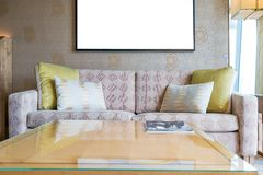 Classic vintage style furniture set in a living room. Interior o Stock Photos