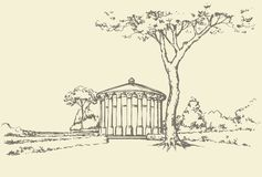 Palace Park. Vector drawing Stock Images