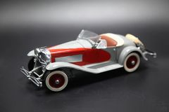 Classic Vintage Toy Sports Car from the 1950`s Royalty Free Stock Photography