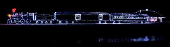 christmas lights train editorial image image of ontario 29782995