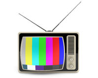 Classic vintage TV with test pattern on the screen Royalty Free Stock Images