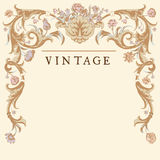 Classic Vintage vector frame baroque. stock illustration
