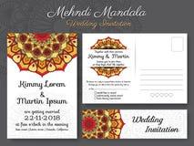 Classic vintage wedding invitation card design royalty free illustration