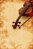 Classic violin on grunge paper background Stock Images