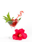 Classic Virgin Mojito summer with strawberry Stock Photo
