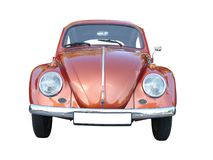 Classic Volkswagen. Vintage Volkswagen front view, isolated on white Stock Image