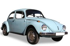 Classic Volkswagen. Vintage Volkswagen isolated on white Royalty Free Stock Images