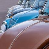 Classic volkswagen beetle in a row stock photo