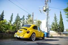 Classic Volkswagen Beetle. Beside the street,Turkey Royalty Free Stock Image