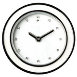 Classic Wall Clock Diamonds Jewel Female Isolated Royalty Free Stock Photo