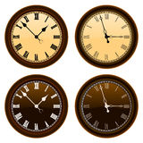 Classic wall clock vector Stock Images