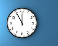 Classic wall clock on the wall Stock Photography