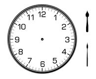 Classic wall clock on the wall. Classic wall clock on the white wall Stock Photo