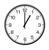 Classic wall clock on the wall Stock Photo