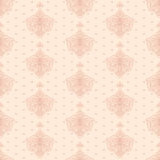 Classic wallpape. R, floral seamless background in retro style stock illustration