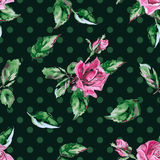 Classic wallpaper seamless vintage flower pattern Royalty Free Stock Images