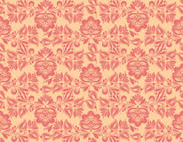 Classic wallpaper seamless vintage flower pattern. Vector classic wallpaper seamless vintage flower pattern on vintage background Royalty Free Stock Image