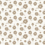 Classic wallpaper seamless vintage flower pattern. On white background Stock Image