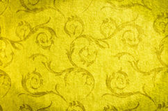 Classic wallpaper seamless vintage pattern on gold background Stock Photo
