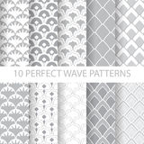Classic wave patterns Stock Photography