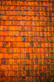 Classic weathered roof tiles as background Stock Photography