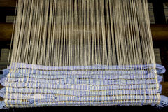 Classic weaving in progress Royalty Free Stock Photo