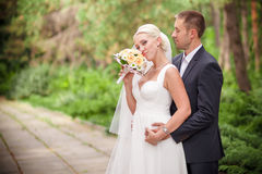Classic wedding bride and groom Royalty Free Stock Photos