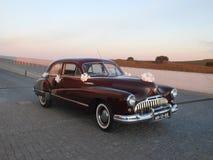 Classic wedding car Stock Image