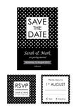 Classic Wedding Invitation And RSVP Cards Collection Stock Images