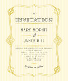Classic wedding invitations and announcements. In retro style Royalty Free Stock Photo