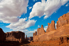 Classic Western Landscape in Arches National Park,Utah Royalty Free Stock Image