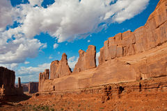 Classic Western Landscape in Arches National Park,Utah Stock Photos