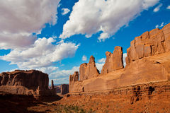 Classic Western Landscape in Arches National Park,Utah Royalty Free Stock Photo