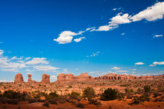 Classic Western Landscape in Arches National Park,Utah Royalty Free Stock Photography