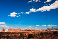 Classic Western Landscape in Arches National Park,Utah Royalty Free Stock Images