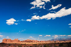 Classic Western Landscape in Arches National Park,Utah Stock Image