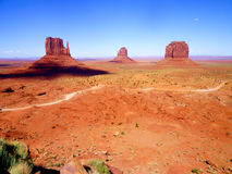 The Classic Western Landscape in Monument Valley ,Utah Royalty Free Stock Image