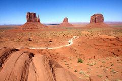 The Classic Western Landscape in Monument Valley ,Utah. United States Stock Photos