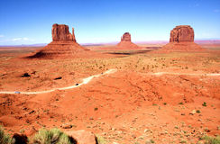 The Classic Western Landscape in Monument Valley ,Utah. United States Royalty Free Stock Photo