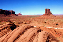 The Classic Western Landscape in Monument Valley ,Utah. United States Royalty Free Stock Photography