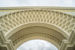 Classic white archway with delicate details royalty free stock image