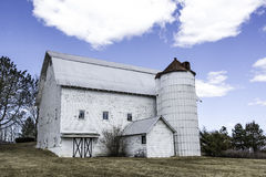 Classic White Barn Royalty Free Stock Photo