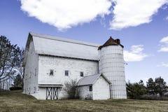 Classic White Barn. A vintage white barn in Charlton, New York Royalty Free Stock Photo