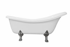 Classic white bathtub with legs Royalty Free Stock Image