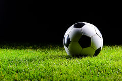 Classic white and black football ball Royalty Free Stock Image